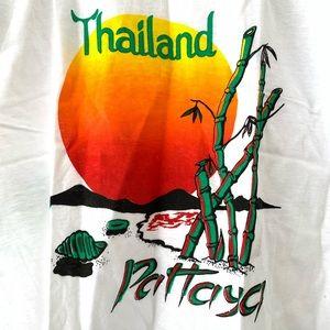 VTG 90s New Thailand travel world shirt Large RARE